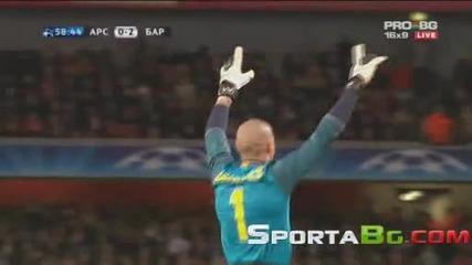 Арсенал 2 - 2 Барселона 1/4 - Финал Шампионска Лига (31.03.2010.)
