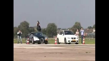 Bugatti Veyron vs Mercedes Meclaren Slr vs Bmv M3