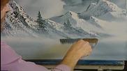 S02 Радостта на живописта с Bob Ross E04 - нюанси на сивото ღобучение в рисуване, живописღ
