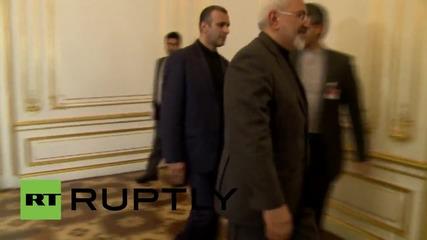 Austria: EU's Mogherini meets Iranian FM Zarif on sidelines of Iran nuclear talks