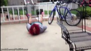 Redhead Chick Concrete Belly Flop _ Faceplant - Epic Fail 2013