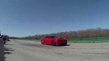 Зверски Burnout на Camaro zl1