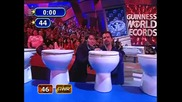 Най-много тоалетни чинии счупени с глава за една минута ! Guinness World Record