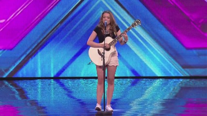 Emily Middlemas sings Coldplay's Yellow - Arena Auditions Wk 2 - The X Factor Uk 2014