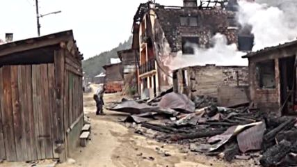 Семейство с малко дете пострада при пожар край Якоруда