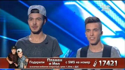 Иво и Пламен - X Factor Live (23.10.2014)