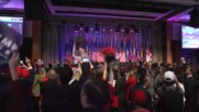 USA: Trump's supporters cheer at New York Hilton after latest projections