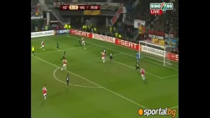 "Az Alkmaar 2:1 Valencia Europa League 29.03.2012 "" Dsb Stadion """