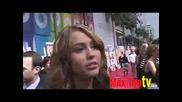 Hannah Montana The movie Интервю Miley Cyrus