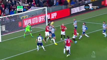 Манчестър Юнайтед - Брайтън 2:0 /първо полувреме/