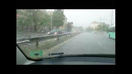 Силна Буря С Огромна Градушка В София