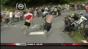 Alberto Contador Punches a Fan on Alpe d_huez in the Tour de