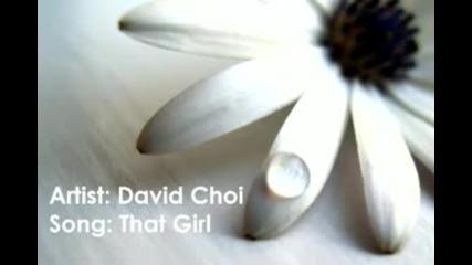 David Choi - That Girl