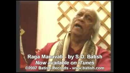 S.d. Batish Sings Raga Manavati - 72 Carna