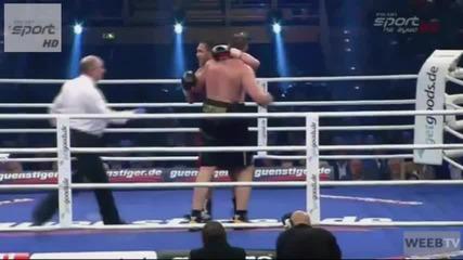 Кубрат Пулев нокаутира Александър Устинов в 11-ти Рунд