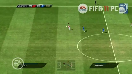 Fifa 11 Arsenal vs. Chelsea full match gameplay pc