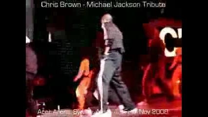 Chris Brown - Michael Jackson Tribute - на живо в Сидни