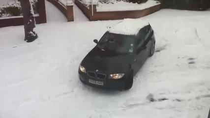 Bmw + Сняг + Жена = Голям смях!