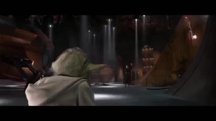 Star Wars - Master Yoda, Anakin Skywalker and Obi - Wan Kenoby vs Count Dooku
