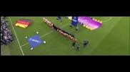 Химна на Италия в изпълнение на националният отбор по футбол.