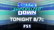 Brock Lesnar confronts Roman Reigns tonight on a Supersized SmackDown