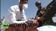 State of Palestine: Mock Israeli force-feeding carried out in solidarity with Mohammed Allan