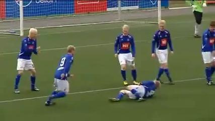 Една от най - оригиналната радост след гол във футбола