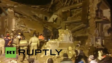 Russia: 6 missing after gas explosion destroys three-store building in Khabarovsk