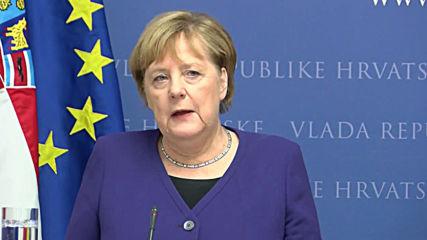 Croatia: Merkel and Croatian PM talk EU accession for North Macedonia and Albania
