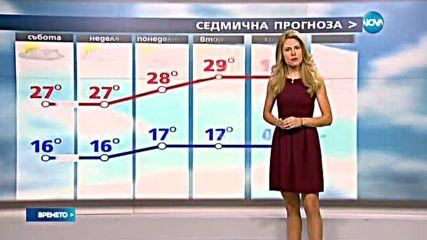 Прогноза за времето (26.08.2016 - централна емисия)