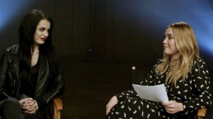 """Paige meets """"Fighting with My Family"""" star Florence Pugh for the first time"""
