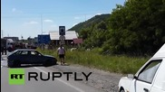 Ukraine: Fire rages after Right Sector gun attack