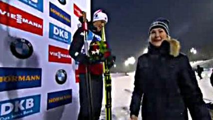 Награждаване на победителите, Сребро за Владо Илиев на Световното в Йостерсунд по Биатлон