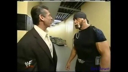 Hulk Hogan and Mr. Mcmahon backstage segment - Wwf Smackdown 21.03.2002