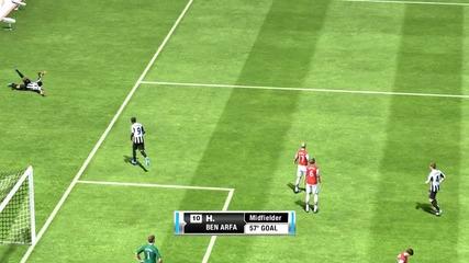 Страхотен гол на Бен Арфа срещу Арсенал на Legendary