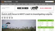 Dutch Shift Focus in MH17 Crash to Investigating Culprits