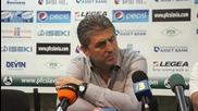 Ивко Ганчев: Тежко е да се говори след такъв мач