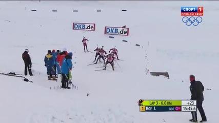 Biathlon Le Grand Bornand Men's 12,5km Pursuit 2013.12.15