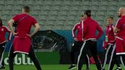 France: Welsh team on final tour of Stade Pierre-Mauroy ahead of historic QF tie