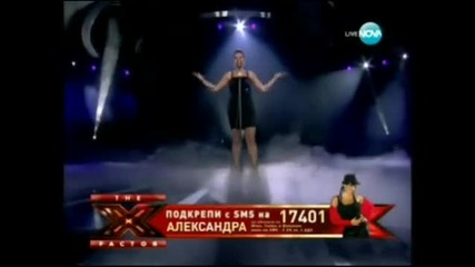 X Factor Bulgaria Alexandra - Wicked Game 29.11.2011