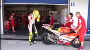 Ducati Desmosedicigp12 first time on track with Rossi