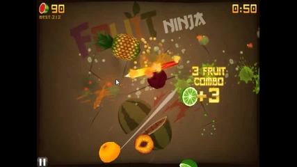Fruit Ninja: Zen Mode My gameplay