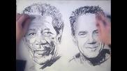 Супер як талант! Рисуване с две ръце!