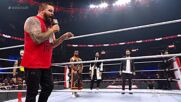 Rollins, Mysterio, Bálor and Owens step to Big E: Raw, Oct. 25, 2021