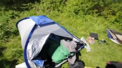 Скок от водата в палатката