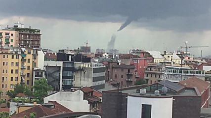 Italy: Tornado touches down south of Milan