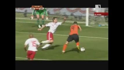 Холандия 2 - 0 Дания *световно първенство Юар 2010* (група E) 14.06.2010.