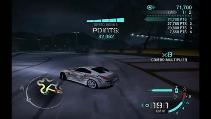 Need For Speed Carbon Drift 1,096,833 Points