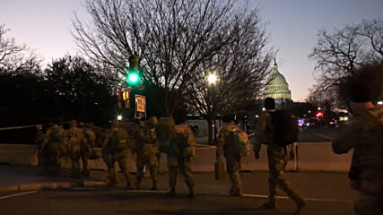 USA: National Guard troops deployed in DC ahead of Biden inauguration