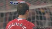 Manchester United 2 - 0 Stoke City Highlights Димитър Бербатов вкарва гол от дузпа !